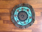 combination braided/hooked chair pad/mat