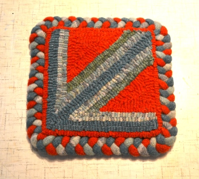 First Rug Punch Piece, with lots of twisted loops.
