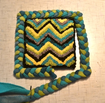 Second Rug Punched Piece, with crowded loops and rows