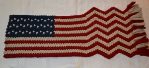 Braided flag with rippling waves